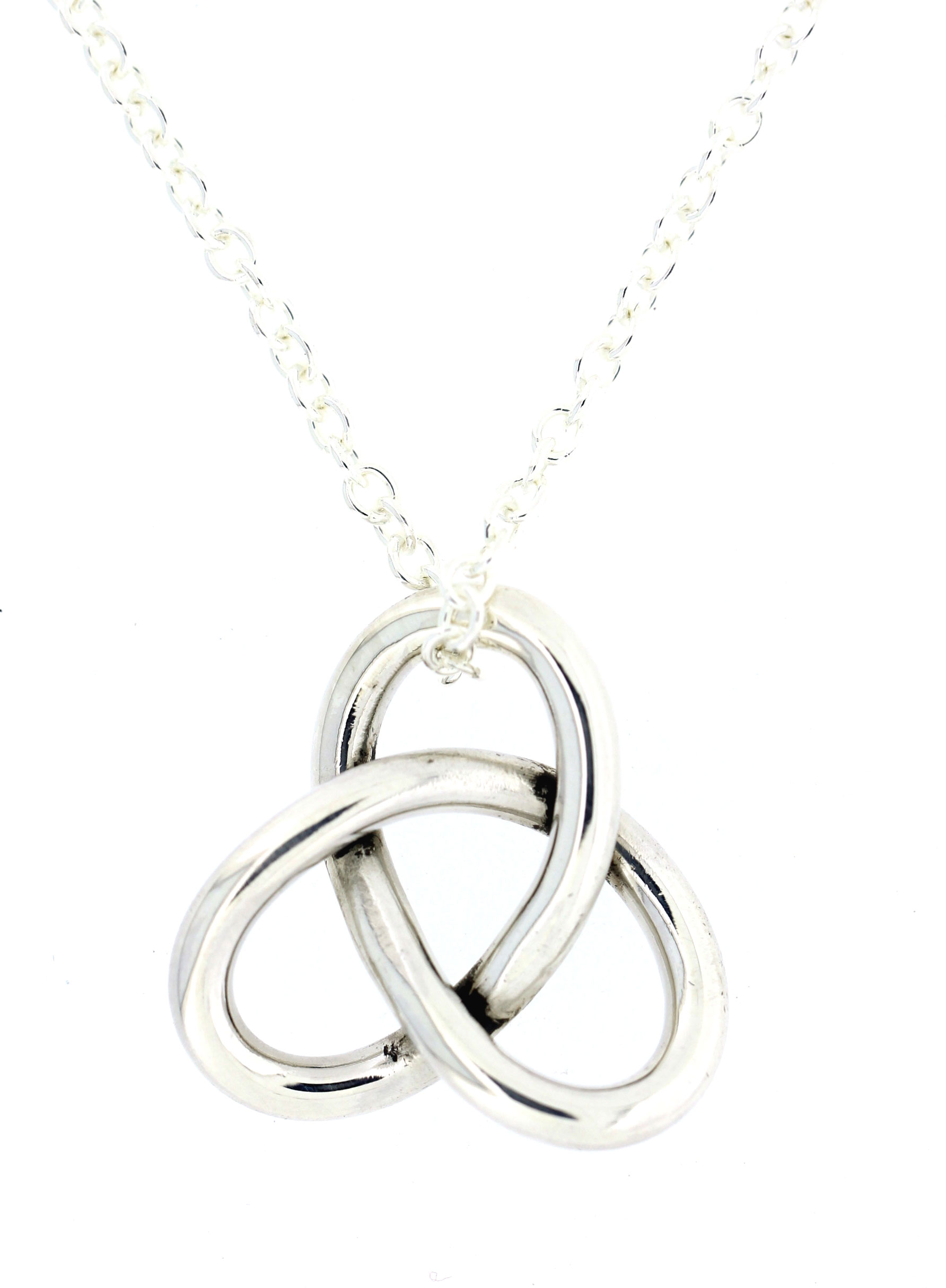 products trinity white gold diamond necklace pendant knot