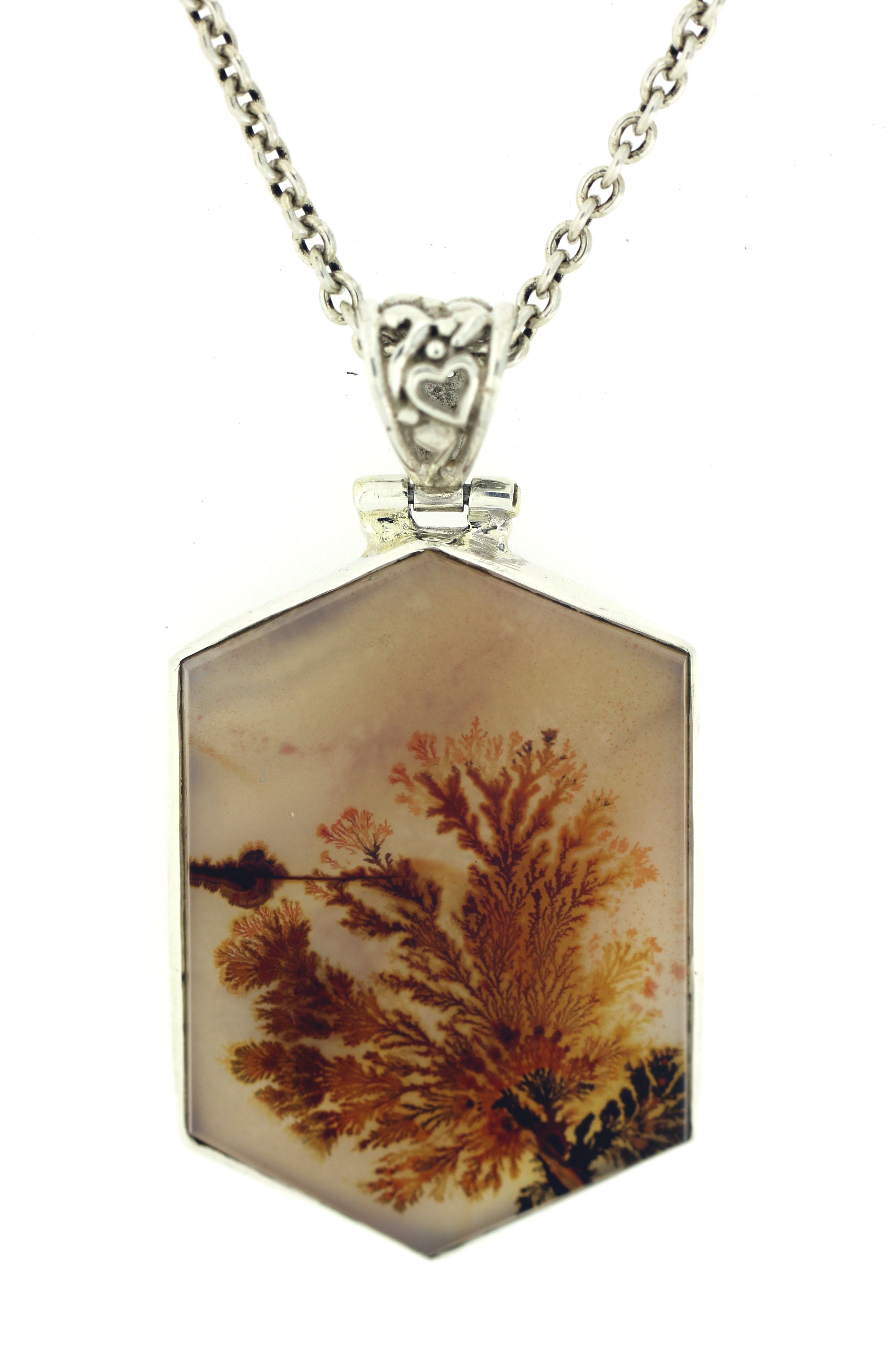 Arcadia crafted jewellery scenic dendritic agate pendant hand crafted scenic dendritic agate pendant set in sterling silver aloadofball Images