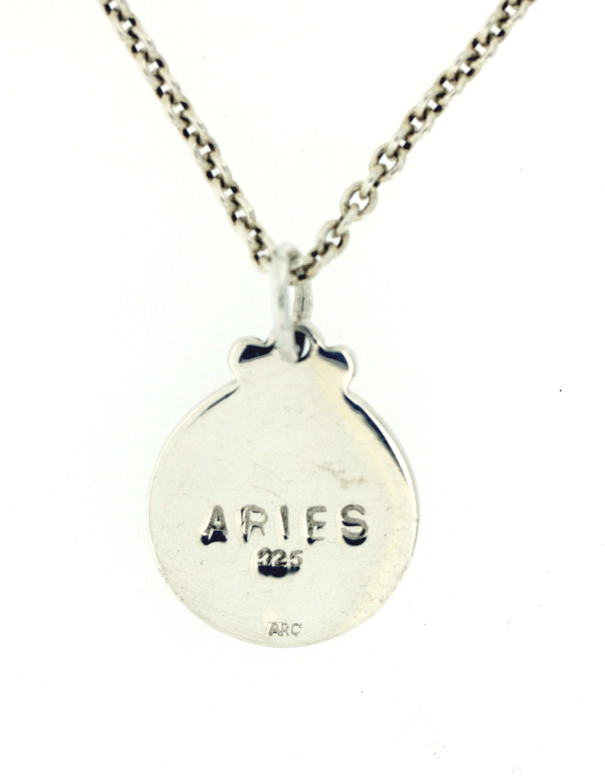 Arcadia crafted jewellery zodiac pendant aries zodiacpendant aries zodiacpendant aries b aloadofball Choice Image