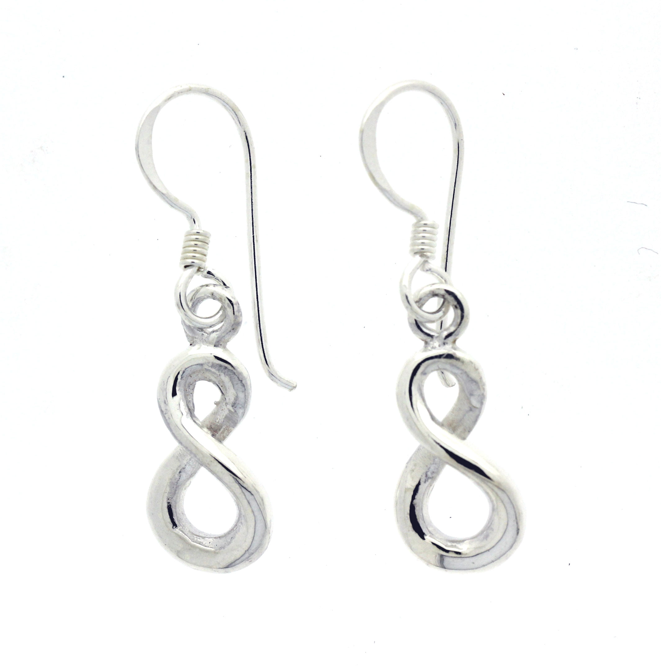 plain hook details delicate an a loop sleek hoop thread pe at dangle sterling slide silver feature infinity style the meaning end aeravida behind products with earrings