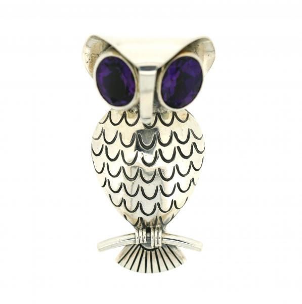 Owl Amethyst Eyes